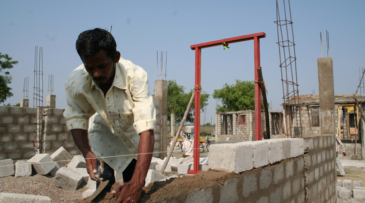 Building affordable houses using Matchin grant scheme RRDF VEDA India