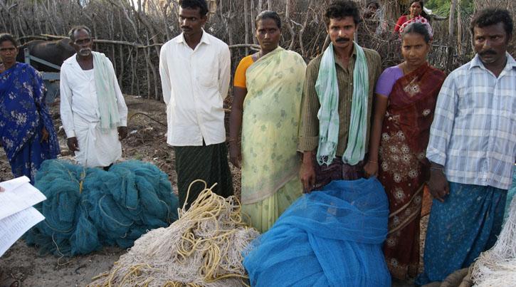 Fishing ent financed through micro credi loans RRDF/ASSIST India